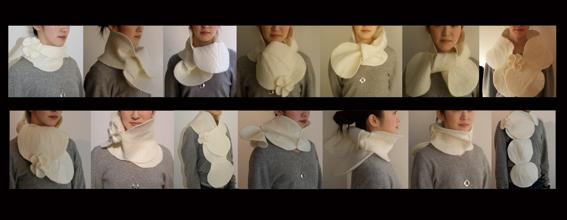 Orecchietta scarf (2007)ORECCHIETTA Al gusto DESIGN / Italy 2007(The first prize/最優秀賞受賞作品)